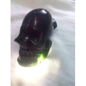 Cráneo De Jade Verde Traslúcido De Chiapas