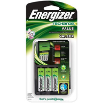 Cargador Energizer Value Aa, Aaa Incluye 4 Pilas Aa Original