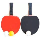 Kit Ping Pong C/ 2 Raquetes E 3 Bolas Oficial Frete Gratis