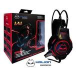 Audifono Gamer Halion S5 Baby Bat Negro C/luces
