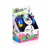 Patins Infantil Easy Roller Preto Roda Gel Led Coloridas