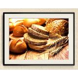 Quadro Decoração Cesta De Pães - Decoração Para Cozinha