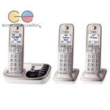 Panasonic Teléfono Inalámbrico 3 Bases Contestador Identific