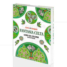 Livro Para Colorir Fantasia Celta