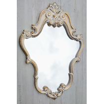 Espelho Com Moldura Decorativa Em Resina Provençal 70 X 50