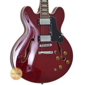 Guitarra Tagima Blues 3000 Semi-acústica Wine Red Com Case