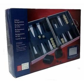 Juego Mesa Backgammon Valija Metalica - Jugueteria Aplausos