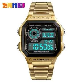 b384ee29b99 Relogio Casio Dourado Retro Original Masculino - Relógios De Pulso ...