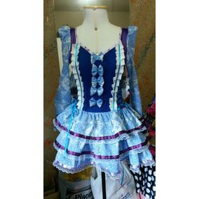 Vestido Festa Junina Caipira Chicboneca Lolita Fantasia
