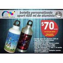 Termo Botella Sport Personalizada Aluminio 400ml Sublimada