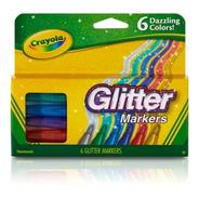 Marcadores C/ Glitter Crayola X6 Colores Intensos Brillantes