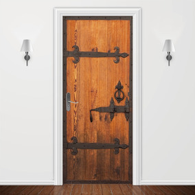 Adesivo Decorativo Para Porta Madeira Estilizada