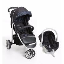 Conjunto Carrinho 3 Rodas + Bebê Conforto Galzerano Apollo