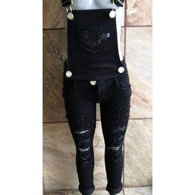Pantalon Overol Para Niña De Mezclilla