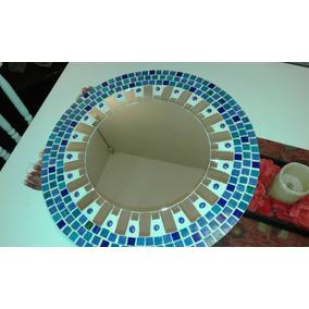 espejo artesanal de venecitas gemas y espejos