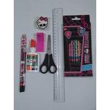 Lápis De Cor Monster High 12 Cores + Kit Escolar