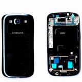 Carcaça Completa Aro Chassi Vidro Frontal Galaxy S3 I9300