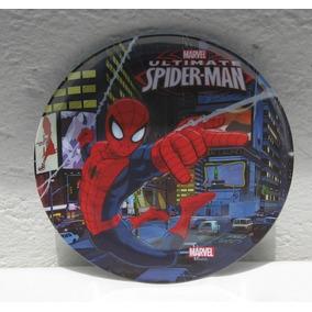 Fiesta Spiderman Plato Melamina Hombre Araña
