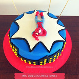 Tortas Infantiles Cumpleaños - Hombre Araña - Spiderman
