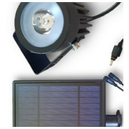 Estaca X2 Luces Led + Panel Solar Batería Litio