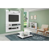 Conjunto Painel Tv, Mesa De Centro E Aparador Sala Branco