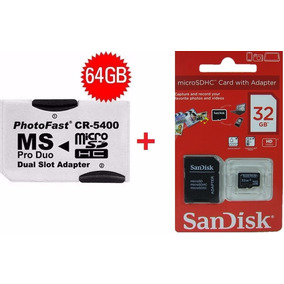 Adaptador Memory Stick Pro Duo + 1 Cartão Memória 32gb