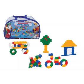 Brinquedo Educativo Peças De Encaixe Monta Tudo 1000 Peças