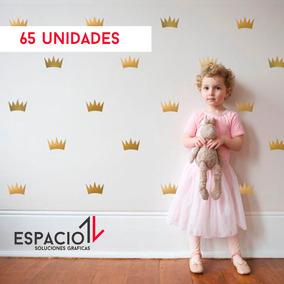 Vinilos Infantiles. Corona, Princesa. Pack Niñas