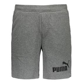 Bermuda Puma Essential Nº 1 Sweat Cinza
