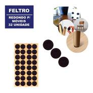 Protetor Kit 32 Feltro Adesivo Pé De Cadeira Sofá Mesa Piso