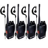 Kit 4 Rádio Comunicador Walk Talk Baofeng 777s Uhf Vhf 3w