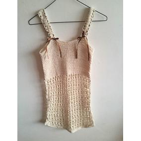 Suéter Camiseta Tejido En Crochet Puro Hilo Algodon