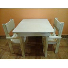 Juego de mesa y 2 sillas de madera para ni os con alfabeto for Mesas y sillas para ninas