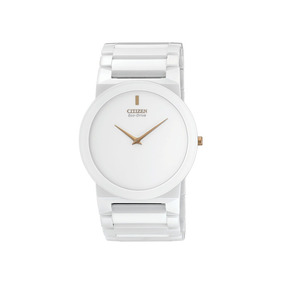 Citizen Stiletto Ceramica Eco-drive Ar3055 Blanco