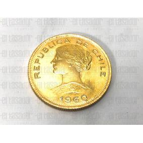 Moneda De Oro 22 K. 100 Pesos / 10 Condores Chilenos