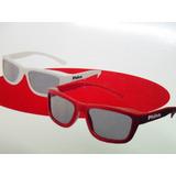Par Óculos 3d Tv Philco Dual Channel Op1dc Branco E Vermelho