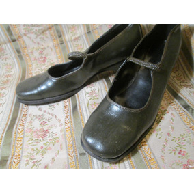 Zapato Guillermina De Cuero Lady Rase Talle 38/39