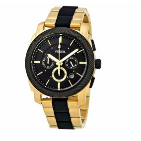 Relógio Masculino Dourado Original Fossil Fs5261 Nota Fiscal