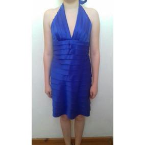 Vestido Azul Mediano Fiesta Noche Graduación Envío Gratis