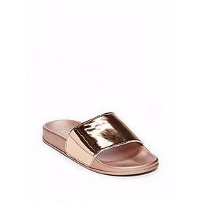 Sandalias De Playa Guess Original Nuevas Gold Rose Talla 3
