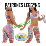 Kit Patrones Moldes Lycras Leggyns Top Monos Gym Dama Mujer