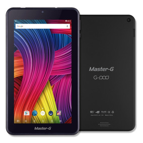 Tablet Master G 8gb 1gb Ram 4core Bt Metalica Negra