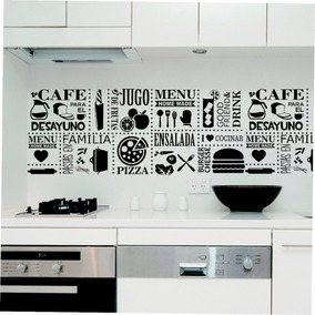 Vinilos decorativos cocina vinilos decorativos en - Cocinas con vinilos decorativos ...