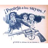 Revolver Antiguo El Casco Colt No Publicidad Viejo Bsaires