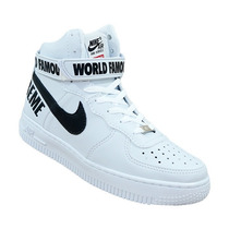 Botinha Cano Alto Nike Air Force Supreme Wold Unissex Oferta