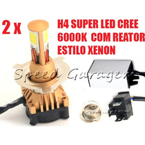 Lampadas H4 Super Led Xenon Yamaha Vmax Mt 03 Fazer 250 L4 K