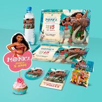 Kit Imprimible Moana Invitaciones Etiquetas