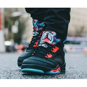 Jordan Retro 5 Color Primario Negro Zapatos Nike de Hombre en