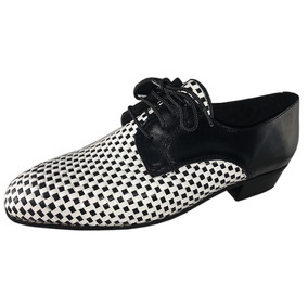 Zapatos Para Bailar Tango Salsa Rock Fiesta Cuero Y Trenzas