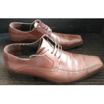 Sapato De Couro Marrom Solado De Madeira Preston Field 41
